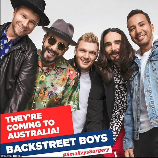 'We will not miss Australia!' The Backstreet Boys promised their DNA world tour will head Down Under during a chat with Nova's Smallzy's Surgery this week