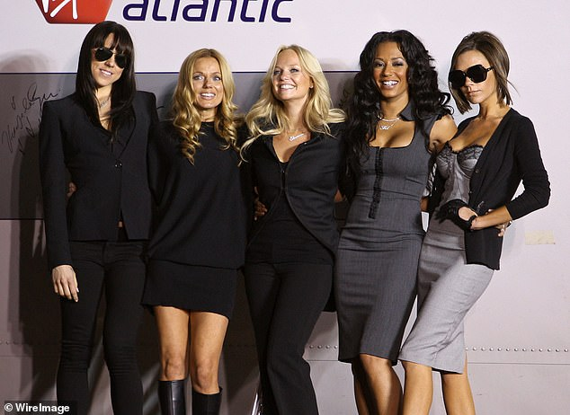 No more:Victoria Beckham (right) has opted not to join in with the reunion - and it's thought that Mel's claims about Geri's fling with her will not jeopardise the tour in any way