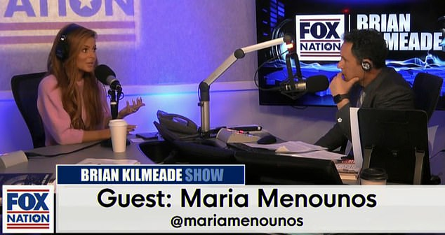 Maria Menounos, 40, opened up about learning she had a brain tumor while her mother was battling stage four brain cancer on Fox News Radio with Brian Kilmeade