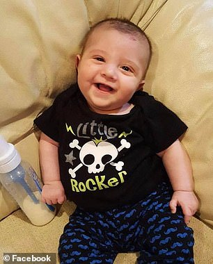 Dominic will need a liver transplant, but in the future because his version of Immunodeficiency 47 is not as aggressive. Pictured: Marcus