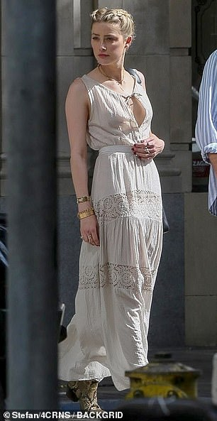 The actress is pictured on Sunday in Los Angeles