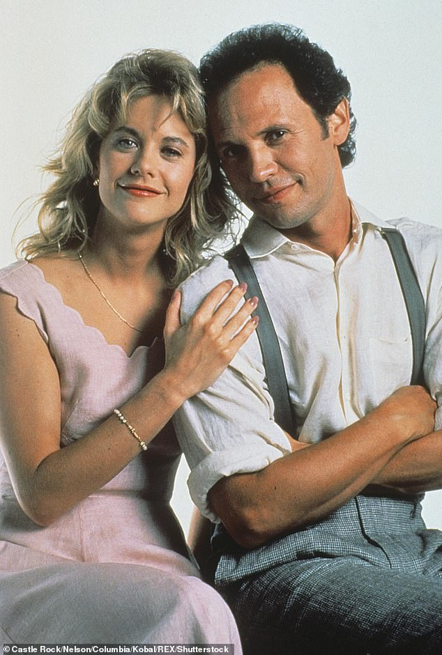 Then: Meg and Billy pose for a publicity shot from the 1989 film