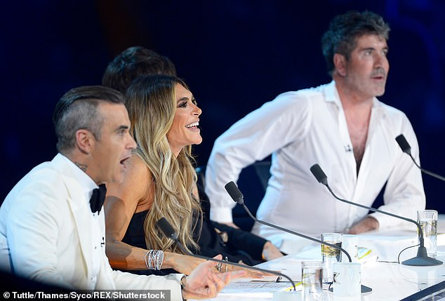 Chatting away: They revealed they will be working with Simon going forward