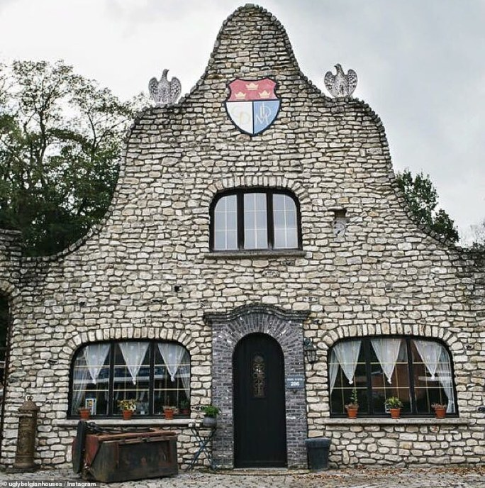 This bizarre-shaped stone built home, complete with two concrete birds sitting at the top, makes the cut for the account, which has 55,000 followers
