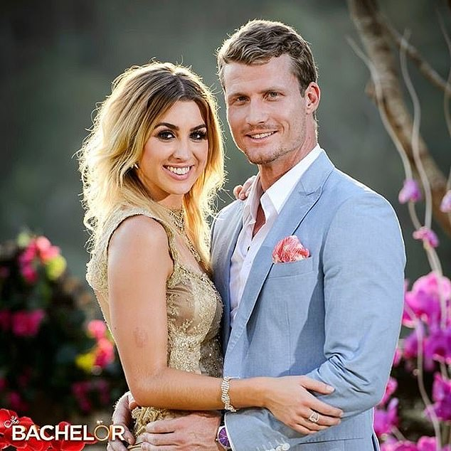 Exes in Paradise:Alex entered Paradise in Fiji this week, and was forced to confront ex Richie Strahan (2016 Bachelor - right) for the first time since their split in 2017