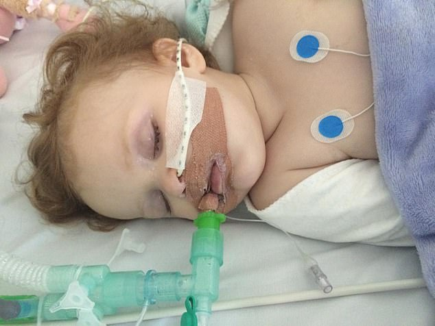 After 'recovering' from her first episode, Lottie was sent home, only to turn blue again a month later. This time she spent four weeks in an induced coma and another two on a children's ward