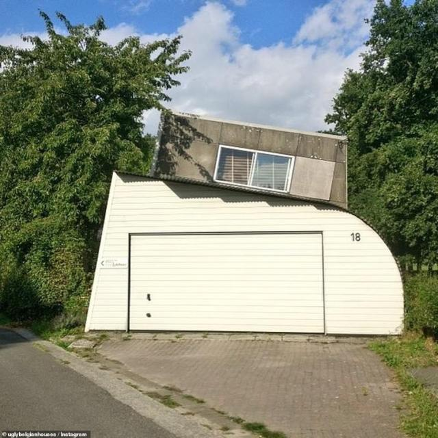 Ugly Belgian Houses contains over 1,400 pictures of houses that are, well – peculiar, including this one