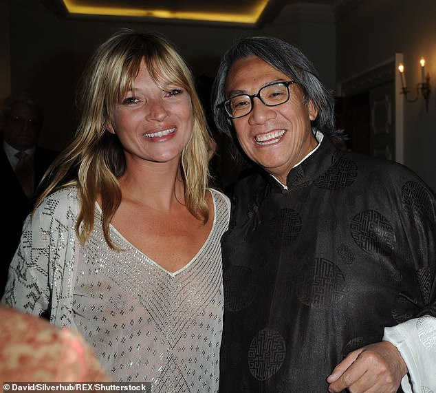 Fan: Kate has a long-time association with The Dorchester and is a fan of the establishment's restaurant China Tang (pictured at the hotel with Sir Davd Tang in 2008)