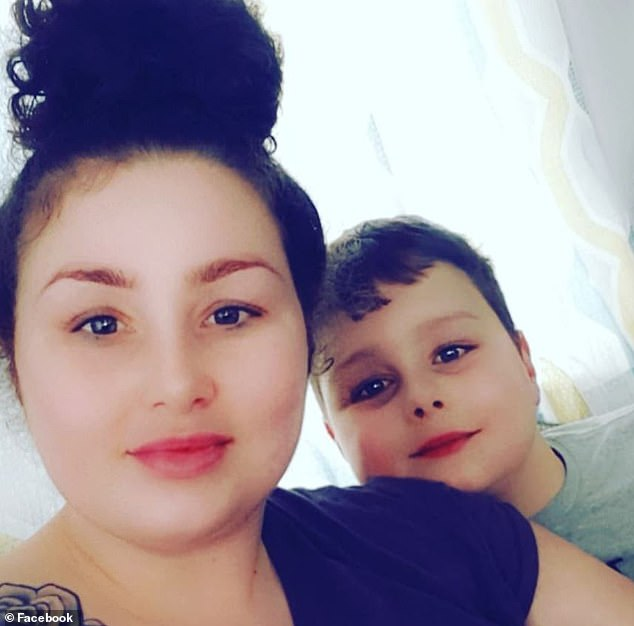 Frankie MacRitchie, nine, pictured with mother Tawnee Willis in a photo taken just hours before his death, was posted with the caption 'caravan life with my babes'