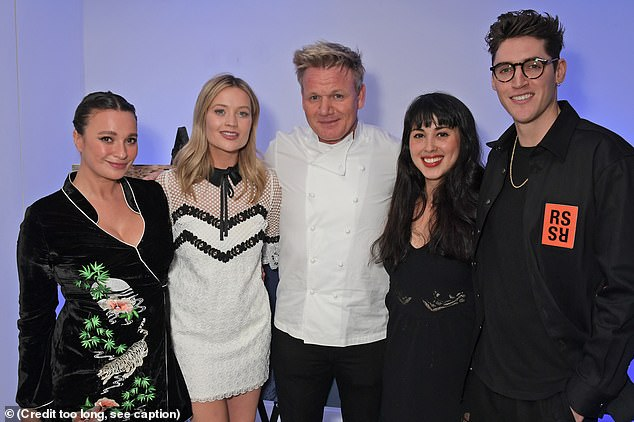 Left to right: Gizzi Erskine, Laura Whitmore, Gordon Ramsay, Melissa Hemsley and Isaac Carew at the Lucky Cat preview event in Mayfair last week