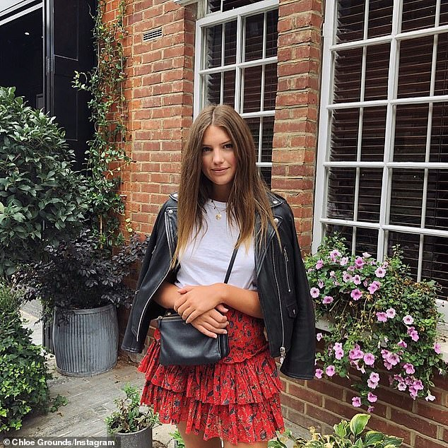 Chloe Grounds, 20, is the daughter of one of Australia's most influential investment bankers