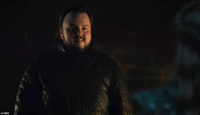 Pardon me:Samwell seeks a pardon, because he borrowed some books from The Citadel and he borrowed a sword from his family, which Daenerys realizes is Randyll Tarly (James Faulkner), who she had burned alive in Season 7