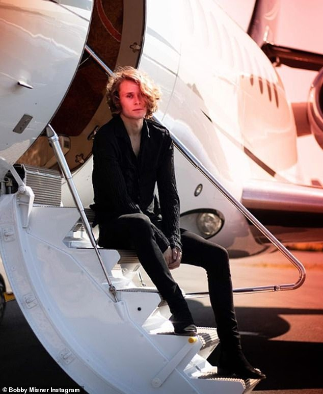 Bobby - seen in his father's jet - was sent boarding school Millfield, one of the world's most prestigious independent schools, but was expelled soon afterwards