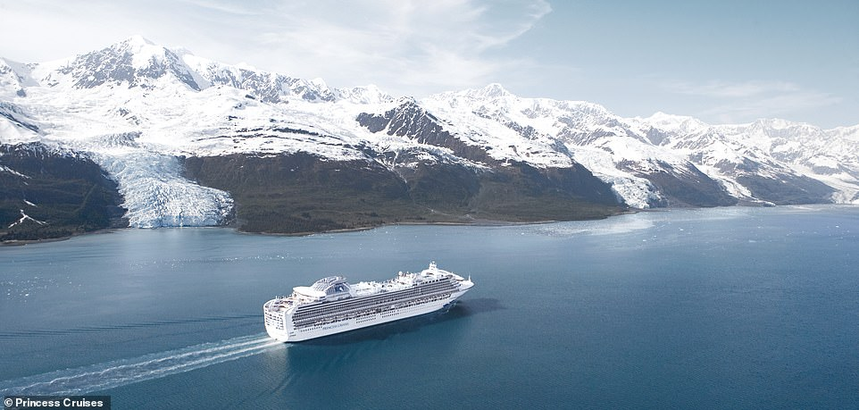 Cruising is the perfect way of seeing coastal spots that are difficult to access from land. Above, the Sapphire Princess cruises along the College Fjord in Alaska, which serves up some spectacular glacier viewing. There are more than a dozen major glaciers in the area, surrounded by jagged snow-capped peaks