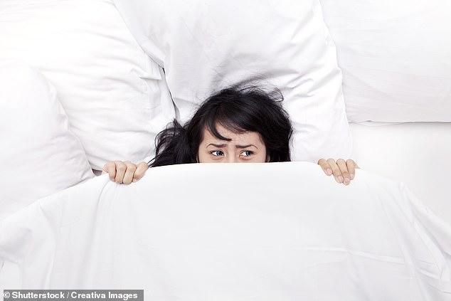Los investigadores afirman que el signo revelador de los malos sueños, dicen los investigadores, es una firma llamada asimetría frontal alfa. Los hallazgos provienen de estudios de 17 voluntarios sanos (foto de inventario) _