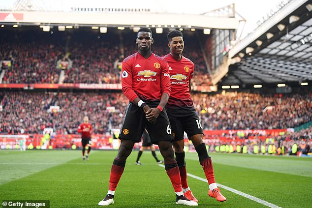 Pogba scored twice over the weekend, while United scored a 2-1 victory over West Ham
