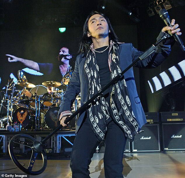 Sing it! Arnel Pineda has been the lead vocalist for the rock band since 2007, a position that was previously held by Steve Augeri for nearly a decade, and Steve Perry from 1977-1987