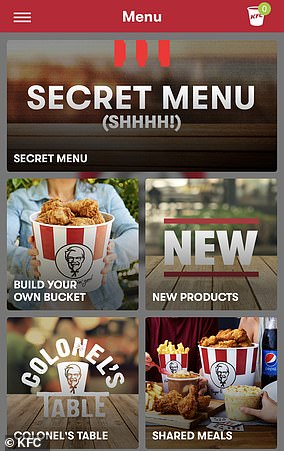 Did you know? KFC has a 'Secret Menu' with never-before-seen meals on its app