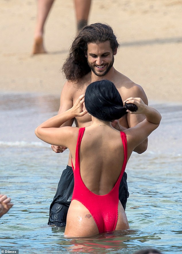 A cheeky tattoo! The Bondi-based beauty showed off a cute tattoo on her derriere