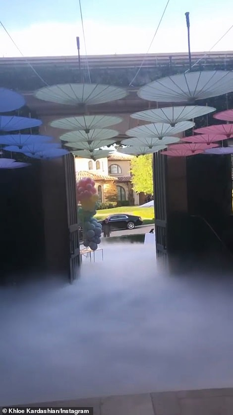 Spooky: The kids party ambiance was supported by fog machines