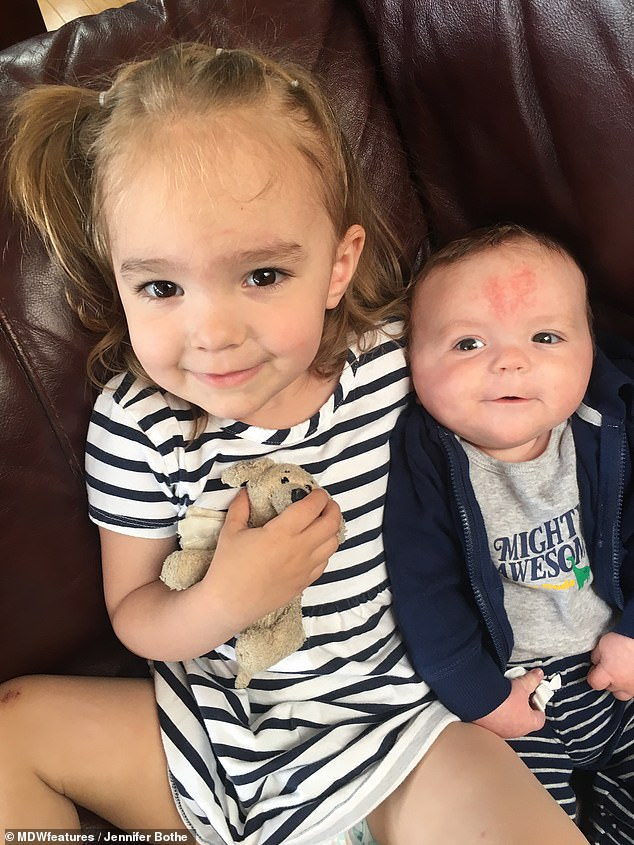 Ethan has managed to learn how to wave, clap and shake his head as well as saying his three-year-old sister's name, Ella. The most heartwarming thing to see the siblings play, Mrs Bothe said