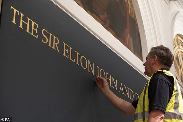 Fabulous:The V&A have renamed gallery 101, at the Photography Centre, after Elton and David for their significant contribution