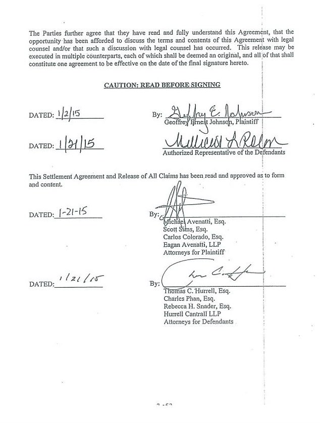 Avenatti reveals the indictment, 48, Johnson doesn't leave a little from $ 1,000 a month, giving him a total of $ 124,000 over four years