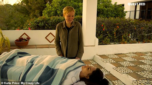 Getaway: After the bizarre massage Katie told the holistic therapist that she had an excitement in her belly