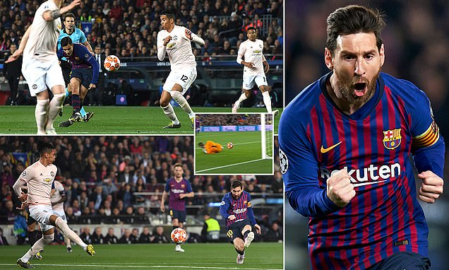 Barcelona 3-0 Manchester United (agg 4-0): Lionel Messi and Philippe Coutinho strike