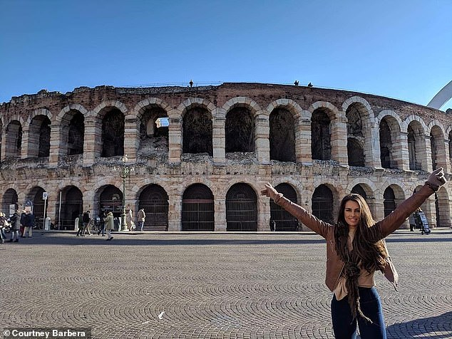 The Instagram personality shared a photo of her travels to Verona, Milan, and Venice in December