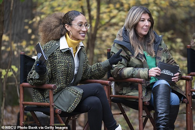 Garcia, pictured on Project Runway with Elaine Welteroth, is now back at work