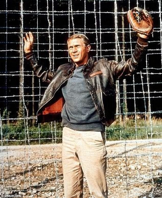 The mastermind of the Great Escape Roger Bushell, was one of 50 brutally murdered after being recaptured (Pictured: Steve McQueen in the 1963 classic film The Great Escape)