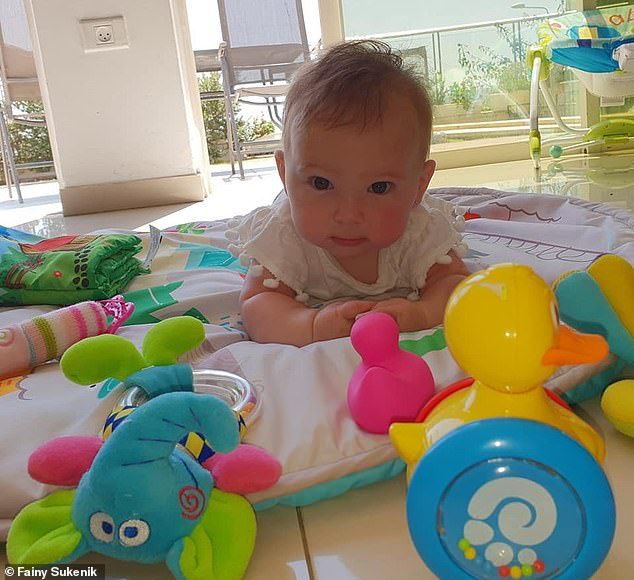 Her mother, Fainy Sukenik, slammed anti-vaxxers in a Facebook post and suggested they stay in isolation or carry signs saying they're anti-vaxxers. Pictured: Shira