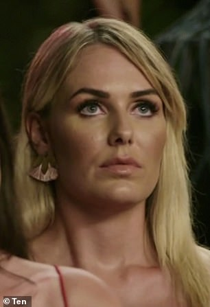 Betrayal: Bill two-timed the women, 'promising' Florence [pictured] his rose, before giving it to Alex, on Thursday night's episode