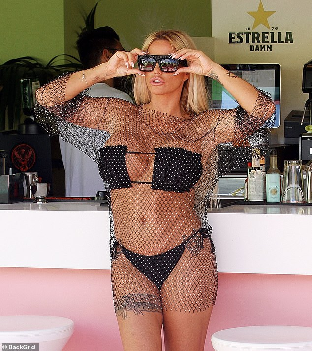 Ink-credible: The model displayed all of her inkings on her sensational figure