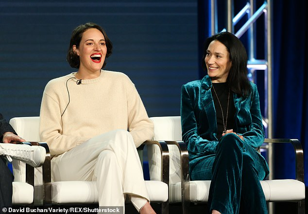 Phoebe Waller-Bridge and Sian Clifford (pictured above) play on screen sisters who are not always at eye level