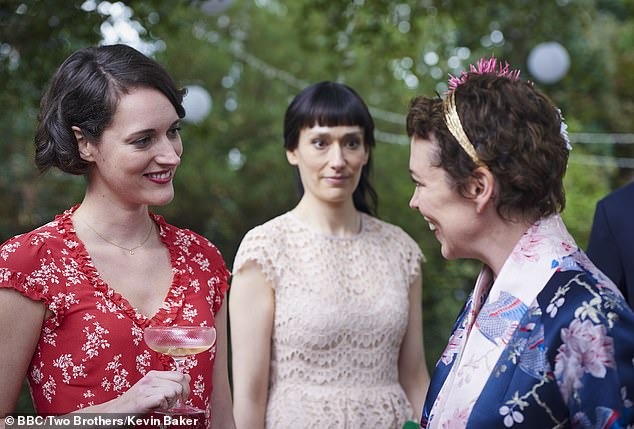 A Fleabag Series 2 still image showing the marriage between her father and the stepmother played by Olivia Colman