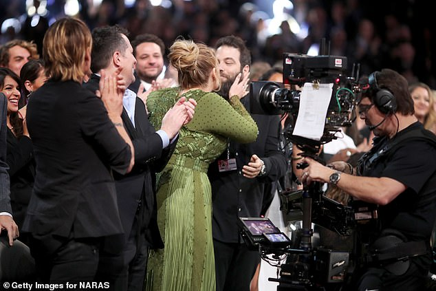 'Separate lives':The claims come after it was reported that Adele and her estranged husband Simon Konecki had been 'living separate lives for years' after news of their shock split emerged (pictured2017)