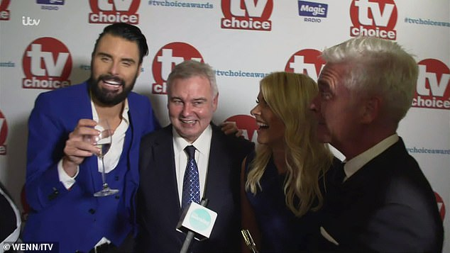 Cheeky!: Rylan Clark-Neal decided to poke fun at Diane Abbott breaking the law as he took to Twitter on Saturday to give his tongue-in-cheek opinion (pictured drunk at the TV Choice Awards in 2017)