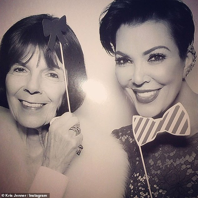 We are one family: Kris Jenner [R] seen here with her mother Mary Jo Campbell in an Instagram snap shared with Jenner's popular account