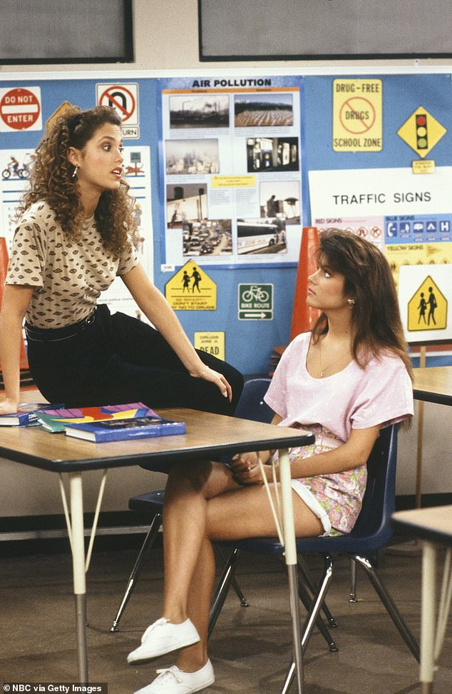 Gal pals: Elizabeth became famous for the cult favorite Showgirls. And Tiffani went on to star in Beverly Hills 90210 and White Collar