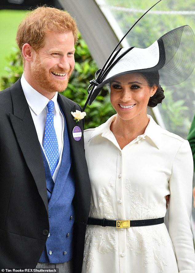 'It's refreshing to see how intimate they are as a couple as they often spend their whole time holding hands when they are together,' Tim said of the Duke and Duchess of Sussex (pictured)