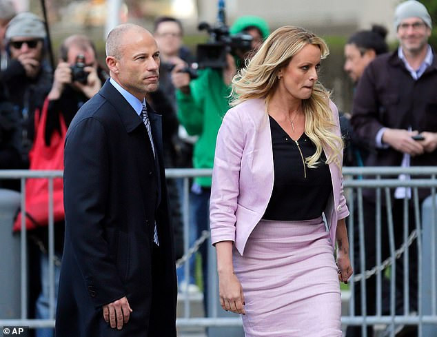 Avenatti is best known for his role in representing pornstar Stormy Daniels (right) in his lawsuits against President Donald Trump, including alleged payments of money