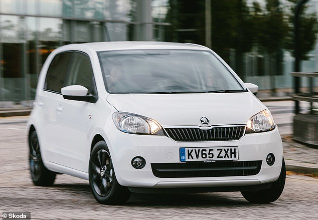 Skoda's Citigo is essentially a less cool VW Up. Fitted with the - frankly weedy - 59bhp 1.0-litre three-cylinder engine, it will do over 55mpg