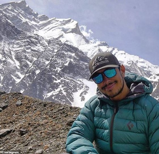 Mr Purja (pictured above) will complete the expedition with a rotating support team of Nepalese climbers