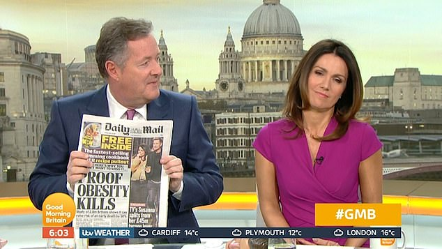 Making the headlines: Susanna Reid addressed her breakup from Crystal Palace chairman Steve Parish, 53, live on GMB on Monday morning