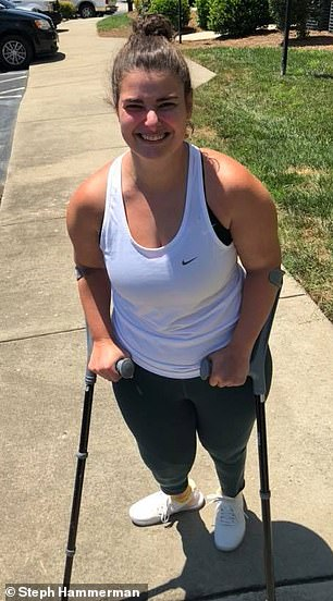 Steph Hammerman, 29 (pictured), from Knightdale, North Carolina, was diagnosed with cerebral palsy at birth