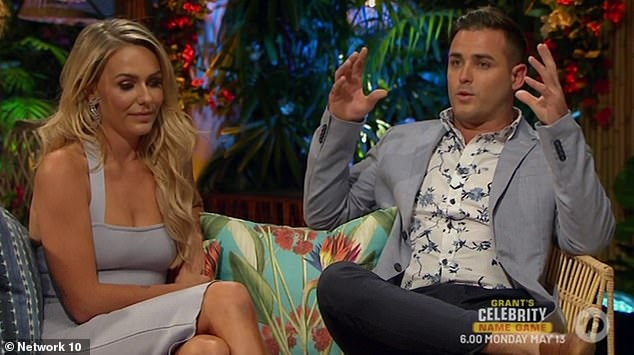 'She reached out which I really appreciated': It comes after Florence revealed that her ex Davey Lloyd's new girlfriend, Georgia Cook, had contacted her on Friday morning to smooth things over after the explosive Bachelor In Paradise finale. Florence pictured with ex Davey (R)
