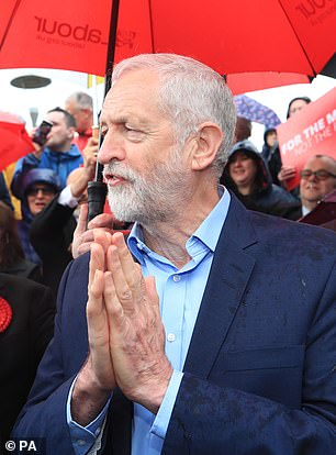 In a disastrous set of results for an Opposition party, Labour (Jeremy Corbyn is pictured) recorded a net loss of dozens of councillors ¿ and lost control of six councils