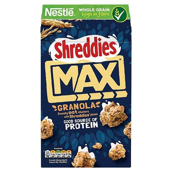 Nestle Shreddies Max Oat Granola 400g, Sainsbury's £2.75